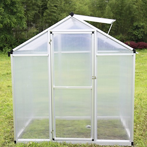 Walcut-Magic-Garden-Series-Walk-in-Aluminum-Greenhouse-Silver-0