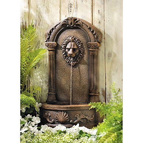 Wall-fountain-for-indooroutdoorgardenpatio-use-water-fountain-lion-head-classic-Italian-barocco-style-Made-by-Franco-di-Rienzo-0-0
