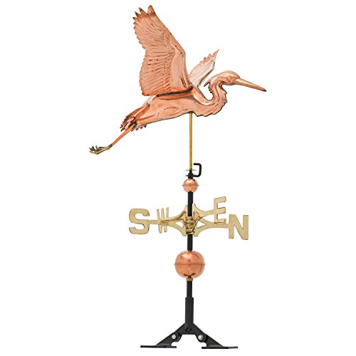 Whitehall-Products-Copper-Heron-Weathervane-Polished-0