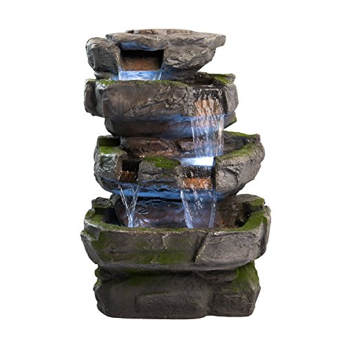Wilson-Rock-Fountain-Stunning-Outdoor-Water-Feature-for-Gardens-Patios-Weather-Resistant-wLED-Lights-Pump-0