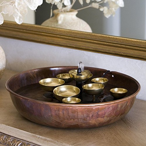 Woodstock-Water-Bell-Tabletop-IndoorOutdoor-Water-Fountain-0