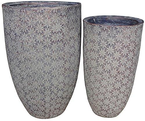Zen-Garden-Flowers-Terracotta-Planter-Set-of-2-Color-Mocha-0