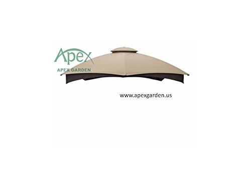 allen-roth-Gazebo-Beige-Replacement-Canopy-Top-Model-GF-12S004BTO-0