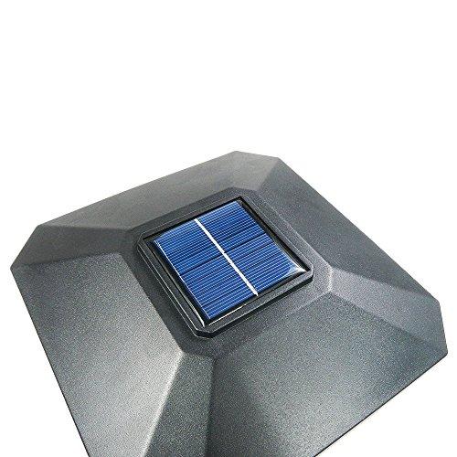 iGlow-8-Pack-Black-White-Outdoor-Garden-6-x-6-Solar-SMD-LED-Post-Deck-Cap-Square-Fence-Light-Landscape-PVC-Vinyl-Wood-0-1