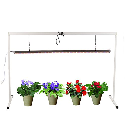iPower-Head-Start-T5-54W-6400K-Fluorescent-Grow-Light-System-with-Stand-Rack-for-Seed-Plant-Starting-0-0