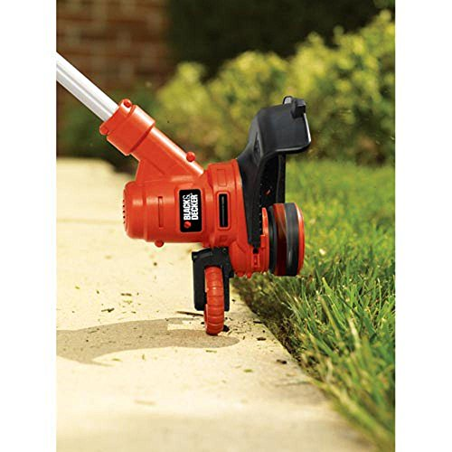 BLACKDECKER-14-in-65-Amp-Corded-Electric-Straight-Shaft-Single-Line-2-in-1-String-Grass-TrimmerLawn-Edger-0-0