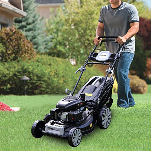 GDPOWER-161cc-4-in-1-Self-Propelled-Gas-Lawn-Mower-with-20-Inch-Deck-and-Recoil-Start-System-OHV-Engine-Rear-BagSide-DischargeMulchBag-11-inch-High-Wheels-Black-20-Black-20-Black-0-2