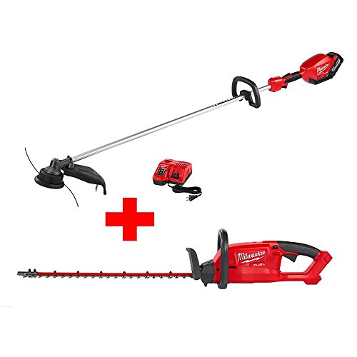 Milwaukee-M18-FUEL-18-Volt-Lithium-Ion-Brushless-Cordless-String-Trimmer-90Ah-Kit-with-Hedge-Trimmer-Bare-Tool-0