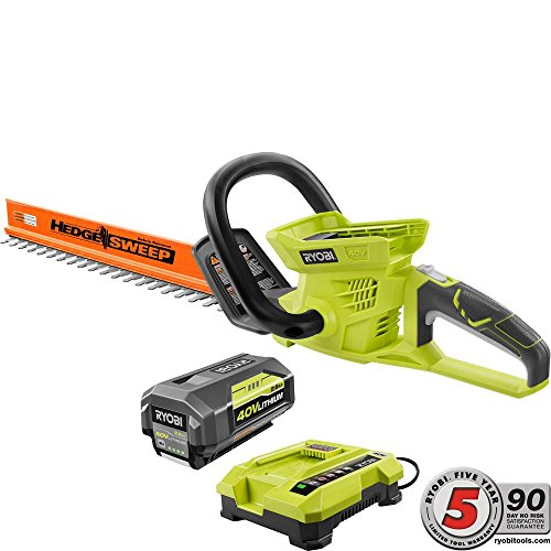 Ryobi-24-in-40-Volt-Lithium-Ion-Cordless-Hedge-Trimmer-26-Ah-Battery-and-Charger-Included-0