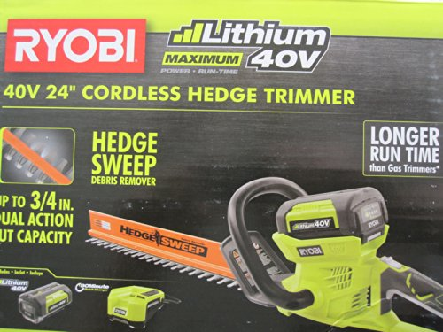 Ryobi-40-Volt-Cordless-Hedge-Trimmer-24-includes-Lithium-Ion-Battery-plus-Charger-0