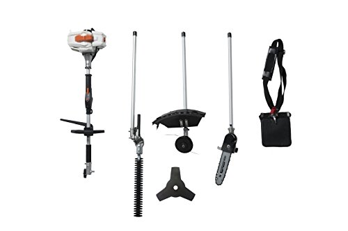 SUN-SEEKER-26CC-2-Cycle-4-in-1-Multi-Tool-with-Grass-Trimmer-Attachment-Hedge-Trimmer-Attachment-Pole-Saw-Attachment-and-Brush-Cutter-Blade-with-Bonus-Harness-0