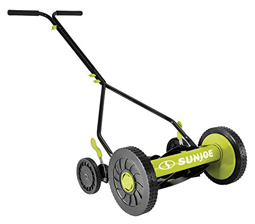 Sun-Joe-MJ503M-14-Inch-Quad-Wheel-9-Position-Manual-Reel-Mower-0
