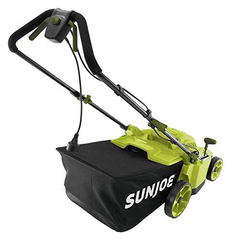 Sun-Joe-MJ506E-16-in-65-Amp-Quad-Wheel-24-Blade-Electric-Reel-Lawn-Mower-w-Grass-Catcher-0-0