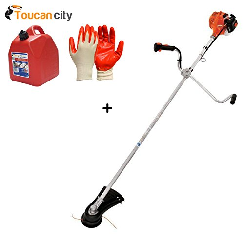 Toucan-City-Gas-Can-with-Nitrile-Dip-Gloves-5-Pack-and-ECHO-17-in-212cc-Gas-Brush-Cutter-SRM-225U-0