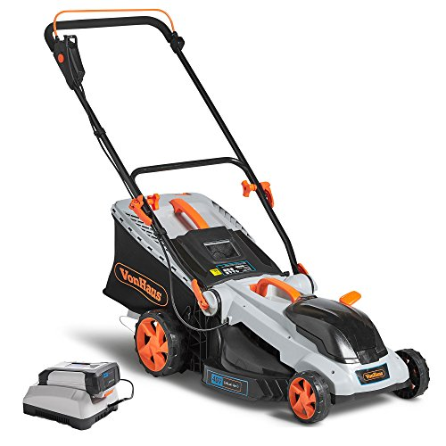 VonHaus-40V-Max16-Inch-Cordless-Lawn-Mower-Kit-with-6-Level-Adjustable-Cutting-Heights-40Ah-Lithium-Ion-Battery-and-Charger-Kit-Included-0