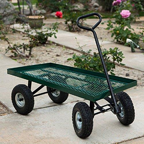 10-1000Lbs-Wheelbarrow-Outdoor-Garden-Wagon-Nursery-Cart-Pneumatic-Tires-Holds-0