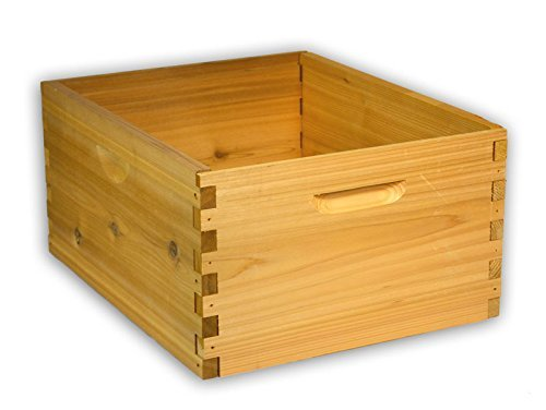 10-Frame-Deep-Hive-Box-Cedar-Wood-for-Langstroth-Beekeeping-Made-in-USA-16-x-19-x-9-Inches-0