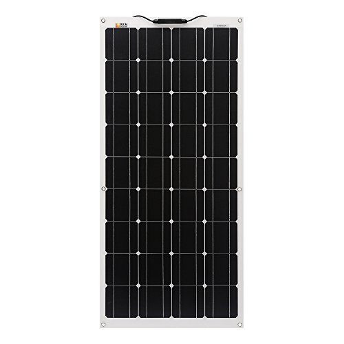 100-Watt-12-Volt-Flexible-Monocrystalline-Lightweight-Solar-Panel-for-RV-Boats-Roofs-Uneven-Surfaces-Ultra-Thin-with-MC4-Connectors-0