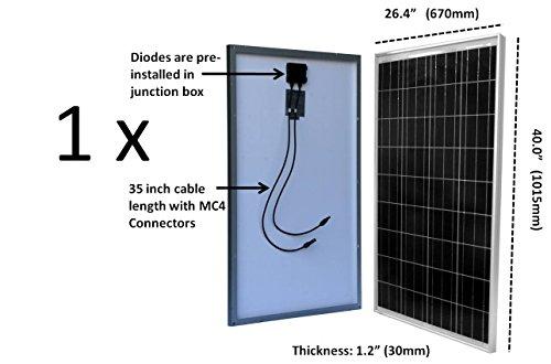 100-Watt-12V-Solar-Panel-Kit-Adjustable-Mount-RV-Cabin-Off-Grid-Battery-0-0