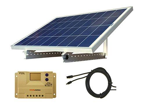 100-Watt-12V-Solar-Panel-Kit-Adjustable-Mount-RV-Cabin-Off-Grid-Battery-0