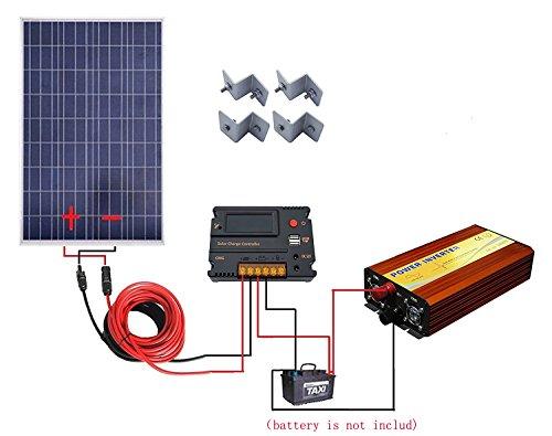 100-Watt-18V-Poly-Solar-Panel-Kits1pc-100w-Poly-Solar-Panel-1pc-12V-1KW-Inverter1-set-of-Z-Mounting-Brackets-1-set-5m-MC4-Solar-Cable-1-pc-20A-Tempreture-Compensation-Solar-Charge-Controller-0