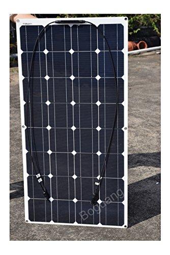 100w-16v-Semi-Flexible-Solar-Panel-Kit-System-Monocrystalline-Cell-Module-10A-12v24v-Controller-3m-MC4-Cable-3m-Alligator-Cable-for-12v-Battery-RV-Boat-Vehicle-Caravan-0-0