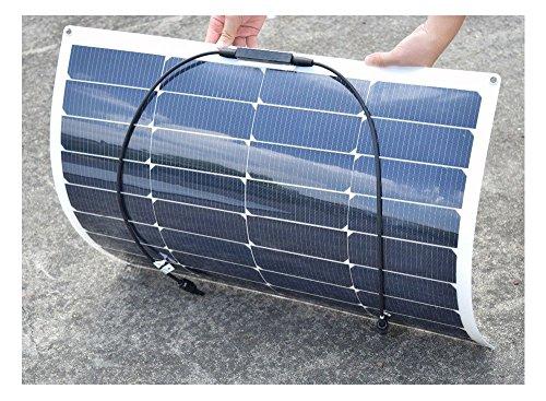 100w-18v-Solar-DIY-Kits-System-2x-50w-Semi-Flexible-Solar-Panel-10A-12v24v-USB-Controller-3m-MC4-Cable-3m-Alligator-Clip-Cable-Y-Type-for-Boat-Yacht-Car-RV-0-0
