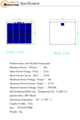 100w-18v-Solar-Panel-DIY-Kits-System-2x-50w-Semi-Flexible-Solar-Panel-10A-12v24v-Controller-3m-MC4-Cable-3m-Aligator-clip-Cable-for-Boat-Car-Yacht-12v-Battery-Charger-0-1