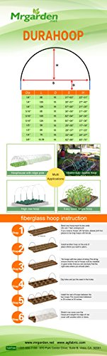 10FT-Long-Agfabric-Grow-TunnelMini-GreenhouseHoophouse-Tunnel-Kits-09oz-Row-Cover-and15Dia3ft-Tunnel-Hoops-0-1