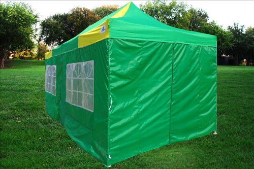 10×20-Pop-UP-Canopy-Wedding-Party-Tent-Instant-EZ-UP-Canopy-GreenYellow-F-Model-Commercial-Frame-By-DELTA-0-0
