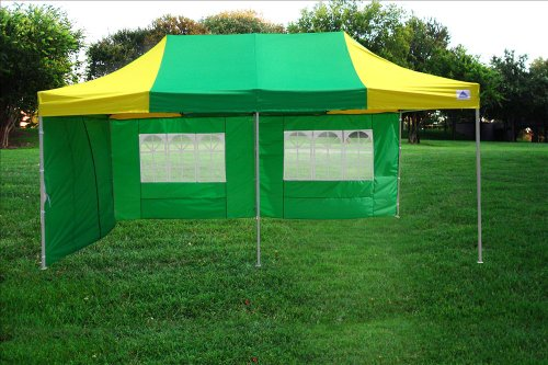 10×20-Pop-UP-Canopy-Wedding-Party-Tent-Instant-EZ-UP-Canopy-GreenYellow-F-Model-Commercial-Frame-By-DELTA-0-1