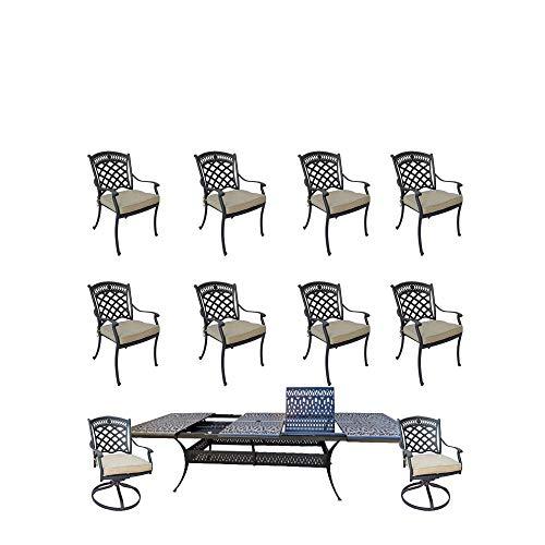11-piece-patio-dining-set-cast-aluminum-Elisabeth-rectangle-extendable-dining-table-0