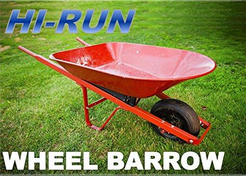 2-NEW-480400-8-4PR-HI-RUN-STUD-WHEEL-BARROW-TIRE-AND-WHEELS-0-0