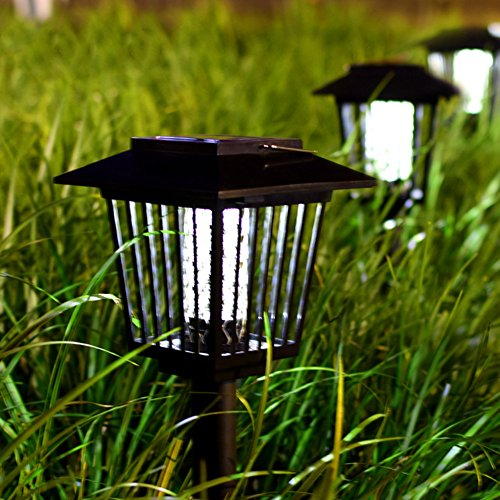 2-Pack-Solar-Powered-Outdoor-Insect-Killer-Bug-Zapper-Mosquito-Killer-Hang-or-Stick-in-the-Ground-with-Dual-Modes-Bug-Zapper-Garden-Light-Function-Best-Stinger-for-Mosquitoes-Moths-Flies-0-2