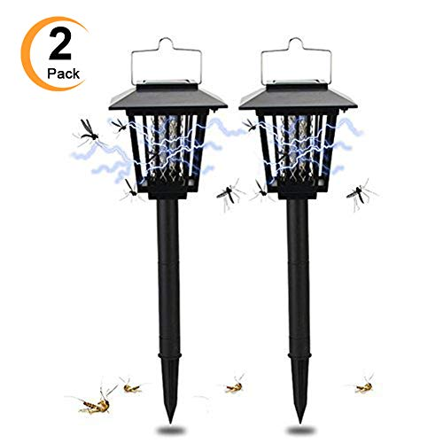 2-Pack-Solar-Powered-Outdoor-Insect-Killer-Bug-Zapper-Mosquito-Killer-Hang-or-Stick-in-the-Ground-with-Dual-Modes-Bug-Zapper-Garden-Light-Function-Best-Stinger-for-Mosquitoes-Moths-Flies-0