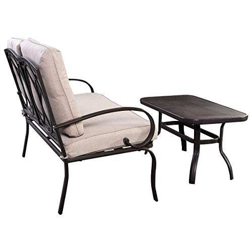 2-Pcs-Patio-Outdoor-LoveSeat-Coffee-Table-Set-Furniture-Bench-With-Cushion-0