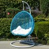 2-Persons-Seater-Egg-Shape-Wicker-Rattan-Swing-Lounge-Chair-Hammock-TURQUOISE-0-1