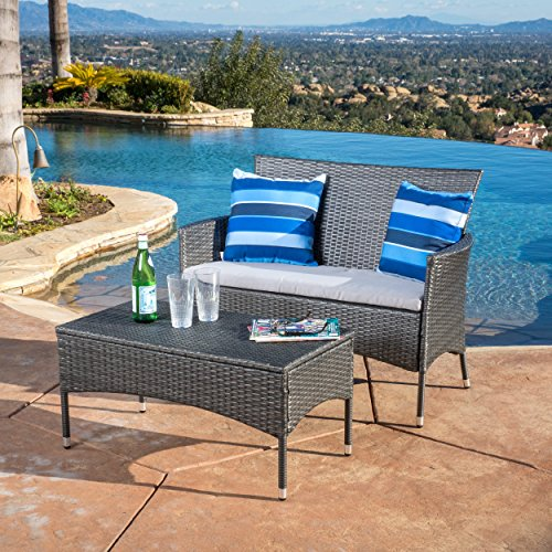 2-piece-Outdoor-Wicker-Loveseat-and-Table-Set-Includes-1-Loveseat-and-1-Table-Contemporary-and-Stylish-PE-Wicker-and-Iron-Construction-Durable-and-Comfortable-Fabric-Upholstery-Multiple-Colors-0