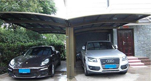 20′ x 20′ Double Carports Metal Carport Tent Garage Canopy ...
