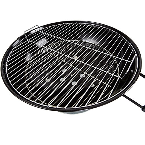 225-Charcoal-Grill-Enamel-Lid-2-Bottom-Storage-Wire-Rack-Wheels-Kettle-Style-Design-Outdoor-Garden-Patio-Backyard-Yard-BBQ-Barbecue-Cooking-Grilling-Durable-Sturdy-Steel-Frame-Removable-Ash-Catcher-0