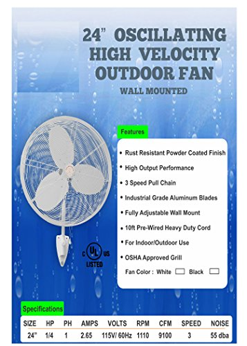 24-OSC-Misting-Fan-Kit-Whit-Fans-with-High-Pressure-1500-PSI-Misting-Pump-Stainless-Steel-Misting-Ring-for-Warehouse-Cooling-Industrial-Misting-Outdoor-Restaurant-Cooling-0-0