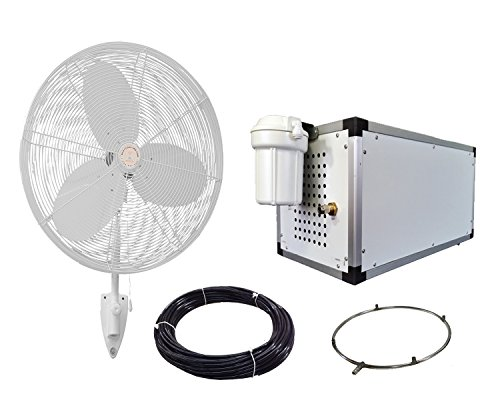 24-OSC-Misting-Fan-Kit-Whit-Fans-with-High-Pressure-1500-PSI-Misting-Pump-Stainless-Steel-Misting-Ring-for-Warehouse-Cooling-Industrial-Misting-Outdoor-Restaurant-Cooling-0
