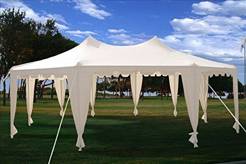 29×21-Octagonal-Octagon-Wedding-Party-Gazebo-Tent-Canopy-White-0-0