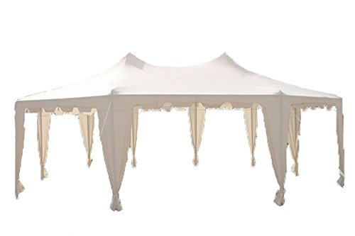 29×21-Octagonal-Octagon-Wedding-Party-Gazebo-Tent-Canopy-White-0