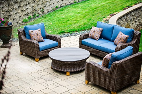 2nd-Shade-Patio-Furniture-Sunbrella-Padded-Outdoor-Wicker-4-Piece-Loveseat-Set-Aluminum-Frame-and-UV-Coated-Wicker-0-0