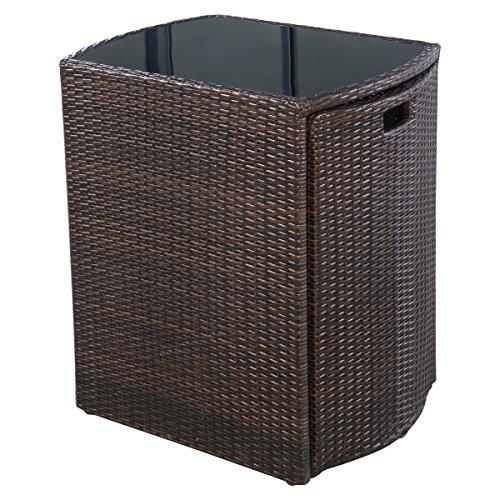3-PCS-Brown-Cushioned-Outdoor-Wicker-Patio-Set-Garden-Lawn-Sofa-Furniture-Seat-0-1