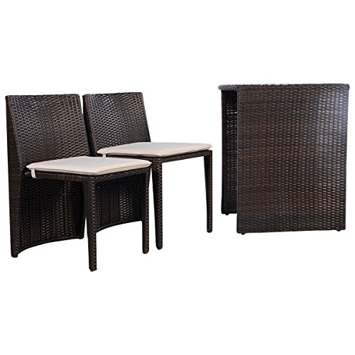 3-PCS-Brown-Cushioned-Outdoor-Wicker-Patio-Set-Garden-Lawn-Sofa-Furniture-Seat-0-2