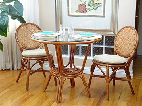3-Pc-Rattan-Wicker-Dining-Set-Round-Table-Glass-Top2-Denver-Side-ChairsColonial-0-0