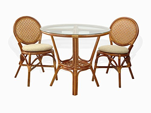 3-Pc-Rattan-Wicker-Dining-Set-Round-Table-Glass-Top2-Denver-Side-ChairsColonial-0