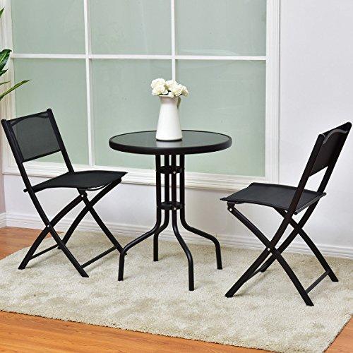 3-Pcs-Bistro-Set-Garden-Backyard-Table-Folding-Chairs-Outdoor-Patio-Furniture-0-0